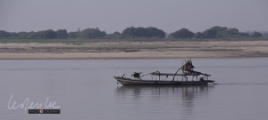 On the Ayerwaddy River, sand dredge