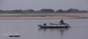 On the Ayerwaddy River, sand dredge