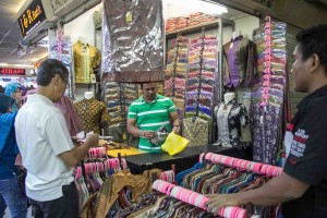 Buying batik, Tanah Abang Textile Market